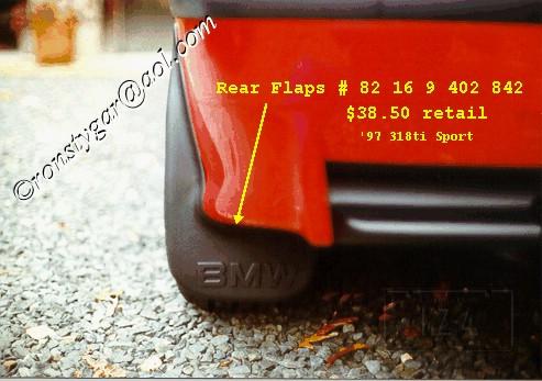 318ti Rear Mud Flaps