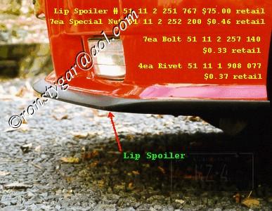E36 Front Spoiler Lip