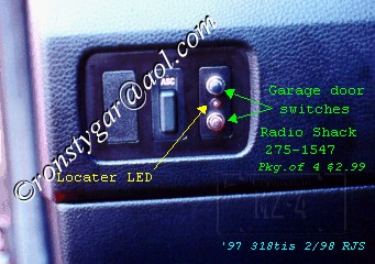 318ti Garage Door Opener Switches