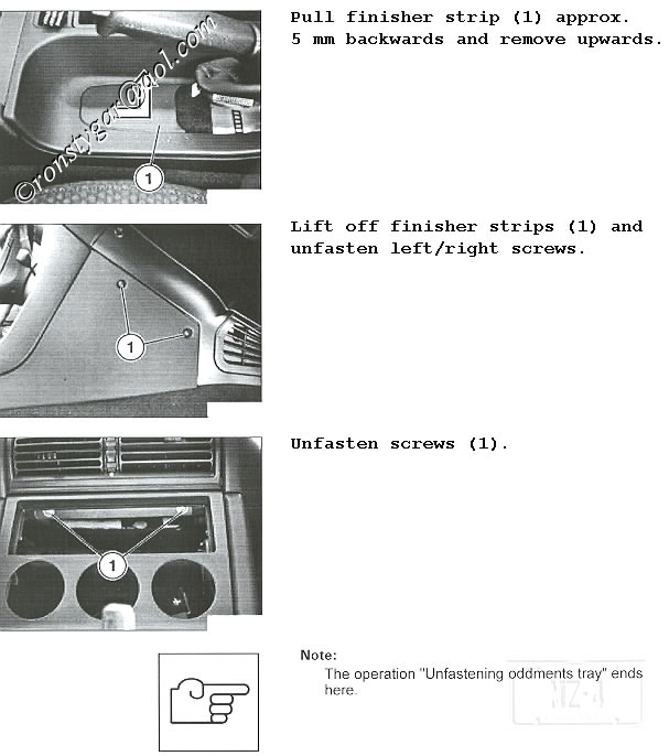 some key words for future searches on this: z3 center console radio hvac  oddments box